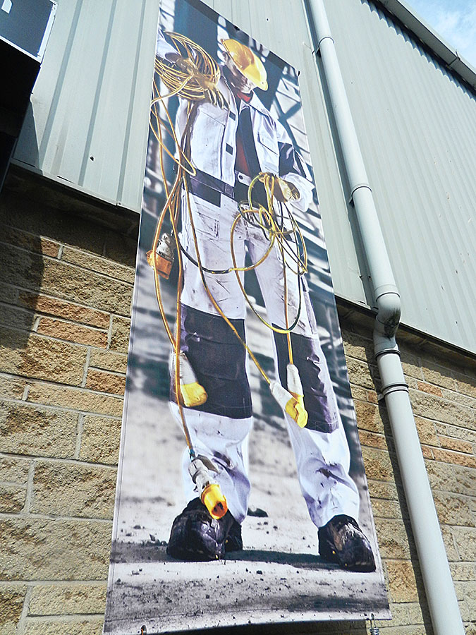 EBS1 vertically mounted printed PVC banners