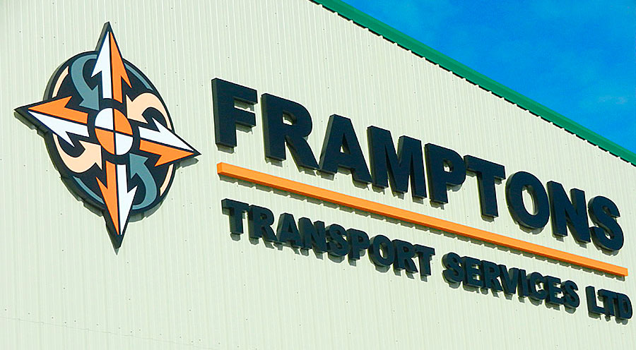 FS1 Very large powder coated built up aluminium letters