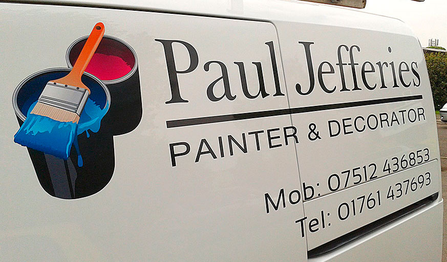 VMS4 cut vinyl lettering and printed and laminated graphics