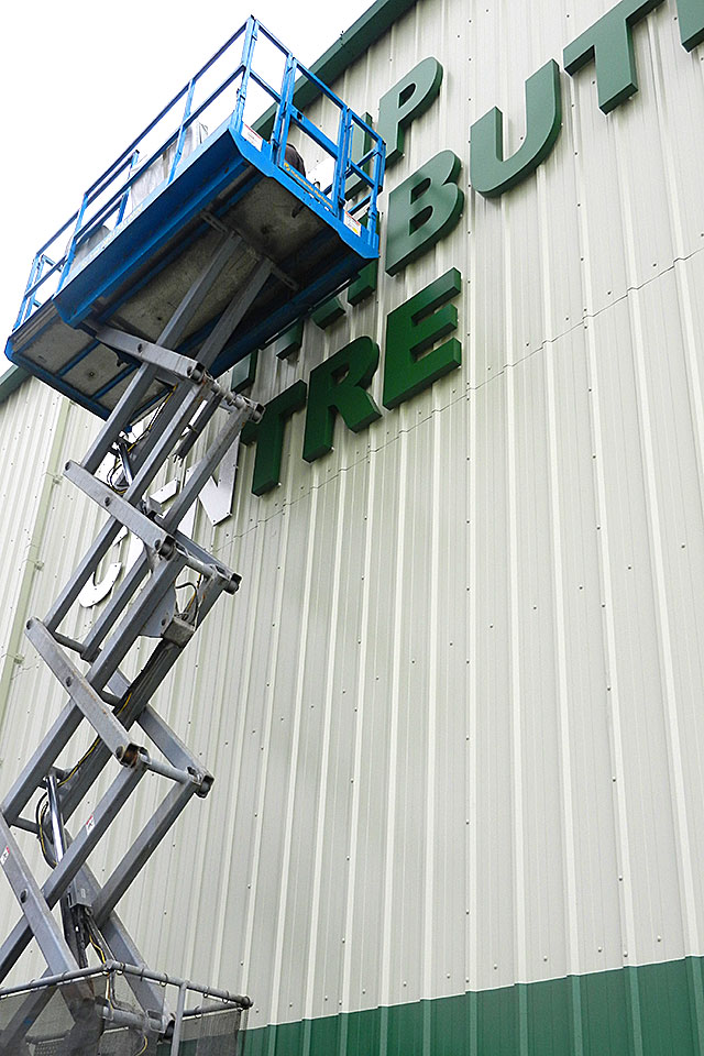 Sign Efex Ltd. Sign makers - Large cut-out lettering installation